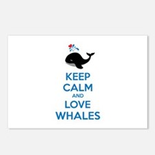 Keep calm and love whales Postcards (Package of 8)