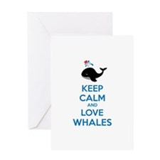 Keep calm and love whales Greeting Card