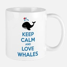 Keep calm and love whales Mug