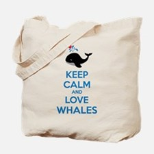 Keep calm and love whales Tote Bag