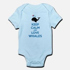Keep calm and love whales Infant Bodysuit