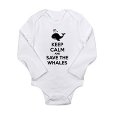 Keep calm and save the whales Long Sleeve Infant B