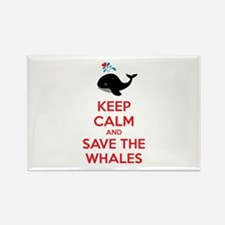 Keep calm and save the whales Rectangle Magnet