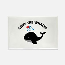 Save the whales Rectangle Magnet