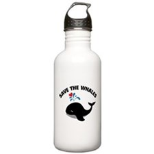 Save the whales Water Bottle