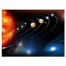 Solar system planets Canvas Art
