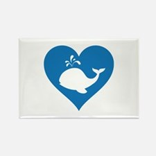 Love whale Rectangle Magnet