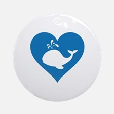 Love whale Ornament (Round)