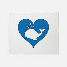 Love whale Throw Blanket