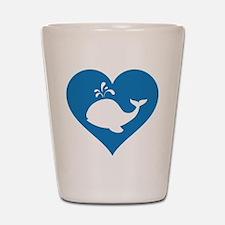 Love whale Shot Glass
