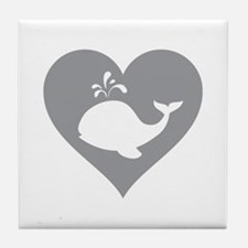 Love whale Tile Coaster