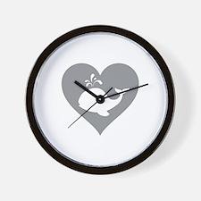 Love whale Wall Clock
