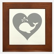 Love whale Framed Tile
