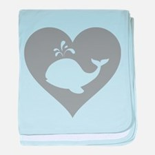 Love whale baby blanket