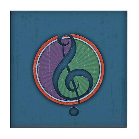 Harmony Clef II Tile Coaster