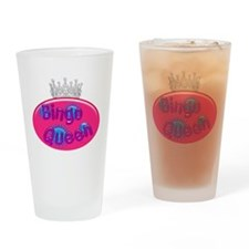 Bingo Queen Bubble Drinking Glass