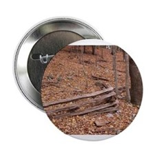 "Fall Leaves and Rail Fence 2.25"" Button"
