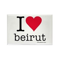 iluvbeirut/lebanon Rectangle Magnet
