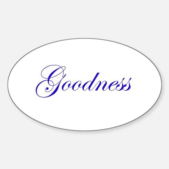 Goodness Oval Decal