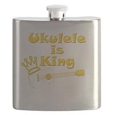 Ukulele Is King Flask