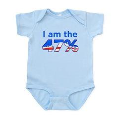 I am the 47% with Obama Logo Infant Bodysuit