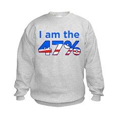 I am the 47% with Obama Logo Sweatshirt