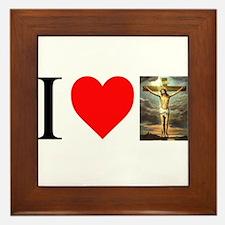 I LOVE JESUS Framed Tile