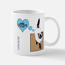 OYOOS Cat Fish Heart design Mug
