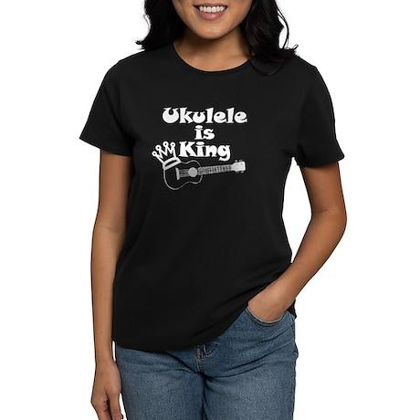 Ukulele Is King Women's Dark T-Shirt