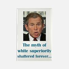 Myth of White Superiority Rectangle Magnet