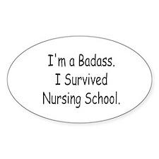 Badass Nursing Students Decal