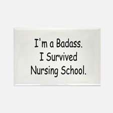Badass Nursing Students Rectangle Magnet