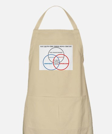 SAY NO TO THE THREE RING CIRCUS! Apron