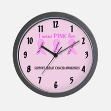 Pink Fighters Survivors Taken 2 Wall Clock