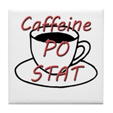 Caffeine PO stat Tile Coaster