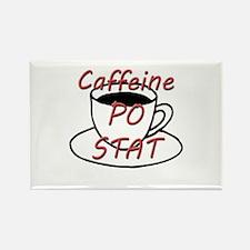 Caffeine PO stat Rectangle Magnet