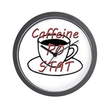 Caffeine PO stat Wall Clock
