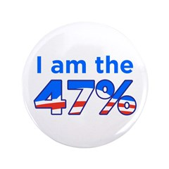 """I am the 47% 3.5"""" Obama Logo Button (100 pack"""