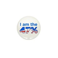 I am the 47% Mini Button (100 pack)