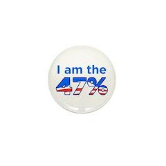 I am the 47% Mini Button