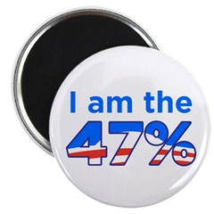 "I am the 47% 2.25"" Obama Magnet (100 pack)"