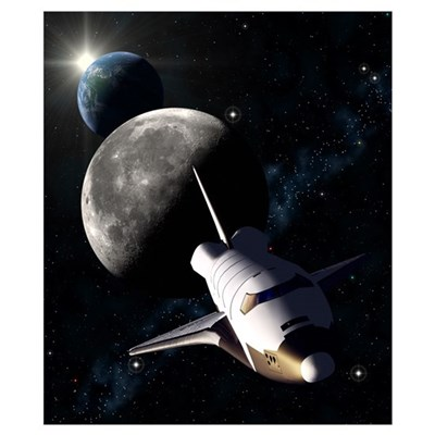 Space Shuttle mission Poster