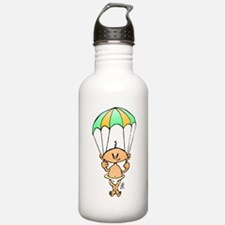 Baby hanging from a parachute Water Bottle