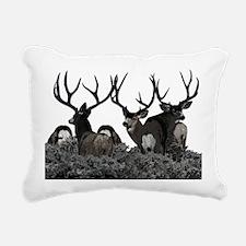 Monster buck deer Rectangular Canvas Pillow