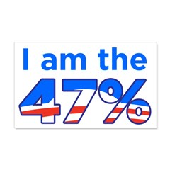 I am the 47% with Obama Logo Wall Decal