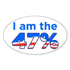 I am the 47% with Obama Logo Decal