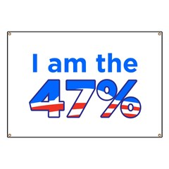 I am the 47% with Obama Logo Banner