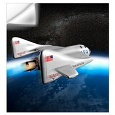 SpaceShipOne above Earth Wall Decal