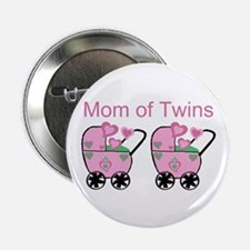 Mom of Twins (Girls) Button