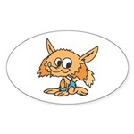 Baby Fox Oval Sticker